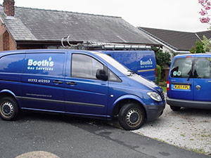 Booths Gas Services Van